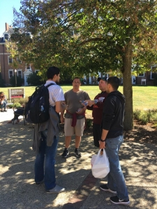 Mike Stockwell and Andy Schmelzer ministering with Muslims at Virginia Tech