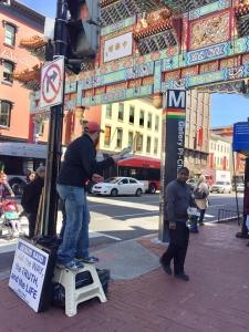 Jaycen Saab preaching in Chinatown