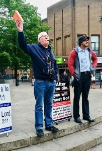 Jimmy Hamilton preaching at Walsall