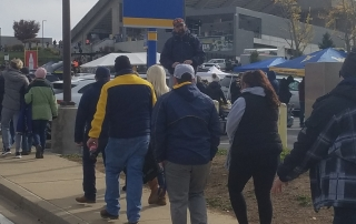 Jaycen Preaching to fans at WVU vs. TT